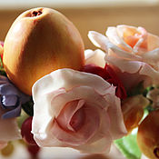 Украшения ручной работы. Ярмарка Мастеров - ручная работа Венок на голову яблоки и розы , венок для фотосессии. Полимерная глина. Handmade.