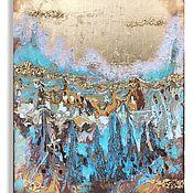 Картины ручной работы. Ярмарка Мастеров - ручная работа Картина «Золотистый закат». Handmade.