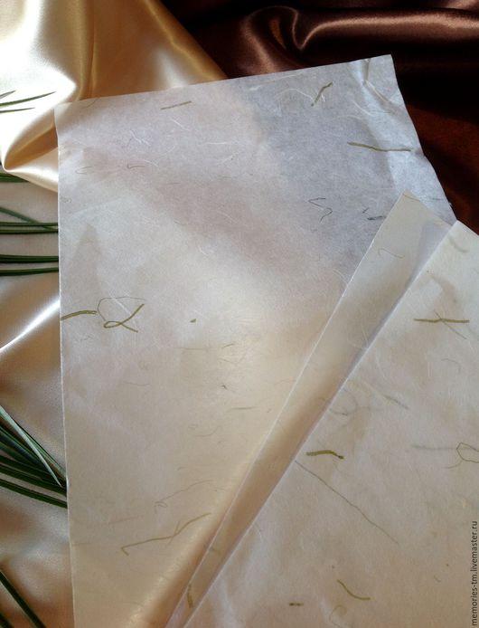 Декупаж и роспись ручной работы. Ярмарка Мастеров - ручная работа. Купить Пергамент - рисовая бумага. Handmade. Кремовый, бумага для скрапа