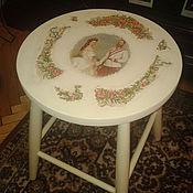 Для дома и интерьера ручной работы. Ярмарка Мастеров - ручная работа Табуретка. Handmade.