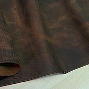 Кожа ручной работы. Ярмарка Мастеров - ручная работа Кожа Крейзи Хорс коричневого цвета 1,8-2,0 мм.. Handmade.