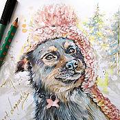 Картины и панно handmade. Livemaster - original item Klepa-picture with a dog. Handmade.