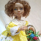 Куклы и пупсы ручной работы. Ярмарка Мастеров - ручная работа Кукла Настенька Солнышко. Handmade.