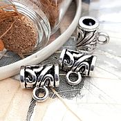 Материалы для творчества handmade. Livemaster - original item Bail for pendants, pendants 11x7x7 mm silver (2485). Handmade.