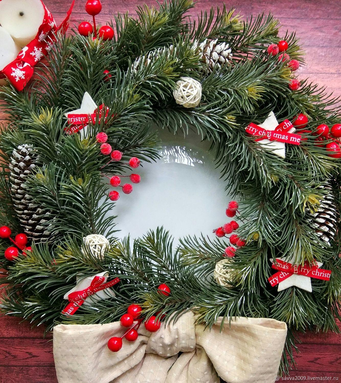 Christmas wreath Christmas on the door on the wall new year Christmas 2018, Wreaths, Yaroslavl,  Фото №1