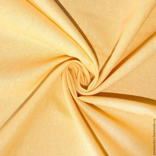 Шитье ручной работы. Ярмарка Мастеров - ручная работа. Купить Американский лен с вискозой сливочно-желтый. Handmade. Американские ткани