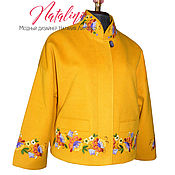 Одежда ручной работы. Ярмарка Мастеров - ручная работа Жакет жёлтый «Дыхание лета». Handmade.