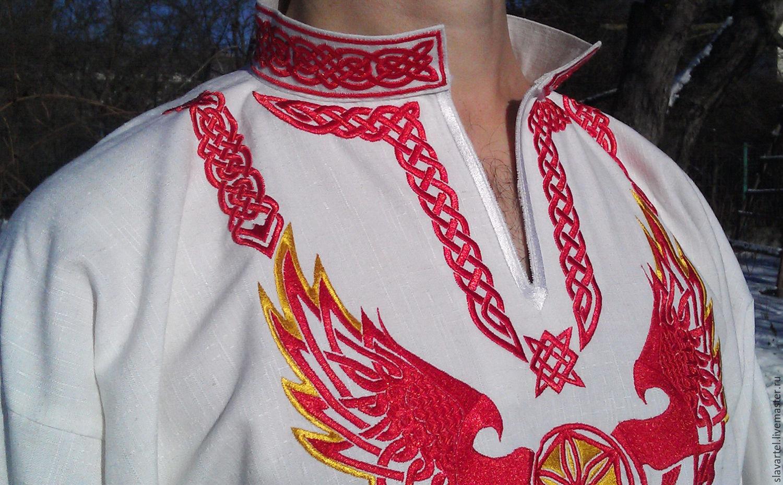 Русская мужская рубаха с вышивкой