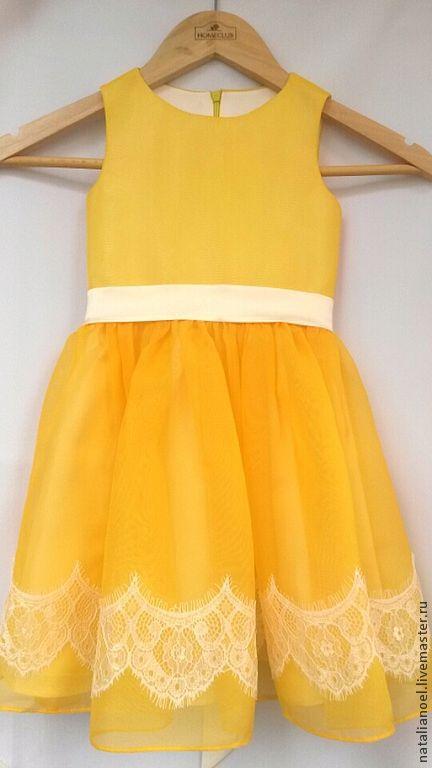 Одежда для девочек, ручной работы. Ярмарка Мастеров - ручная работа. Купить Платье Sunshine. Handmade. Желтый, платье для девочки, кружево