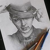 Картины ручной работы. Ярмарка Мастеров - ручная работа Портрет по фото на заказ формат а4. Handmade.