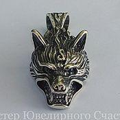 "Украшения handmade. Livemaster - original item The amulet, a totem, a talisman, ""Wolf"" silver 925. Handmade."