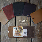 Сумки и аксессуары handmade. Livemaster - original item Minimalistic men`s wallet brown for bills and credit cards. Handmade.