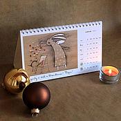 Подарки к праздникам ручной работы. Ярмарка Мастеров - ручная работа Календарь настольный 2017 г.. Handmade.