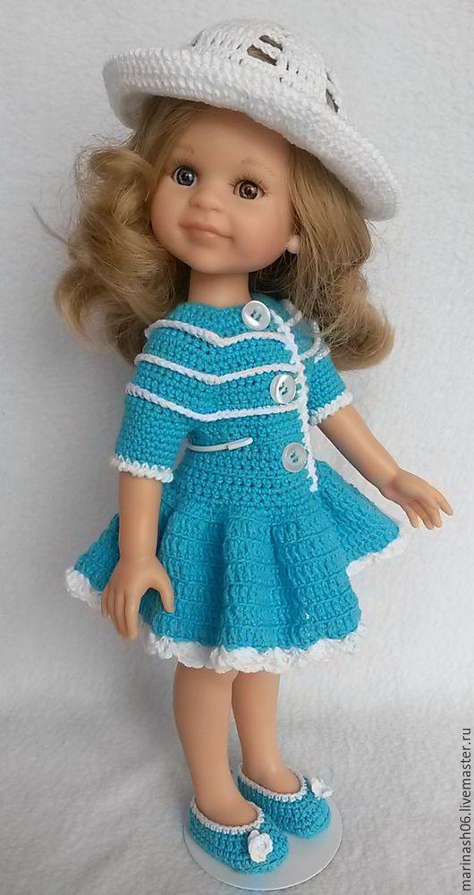 """Одежда для кукол ручной работы. Ярмарка Мастеров - ручная работа. Купить Комплектик """"Бирюза"""" 1. ( для куколки Paola Reina). Handmade."""