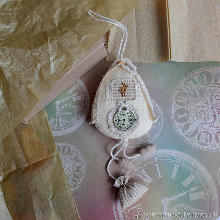 Часы с кукушкой винтажные текстильные, Подвески, Сочи, Фото №1