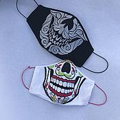 Аксессуары handmade. Livemaster - original item Protective mask-a protective face mask made of linen with embroidery