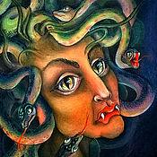 """Картины и панно ручной работы. Ярмарка Мастеров - ручная работа """"Гаргона"""" мифы древней Греции. Handmade."""