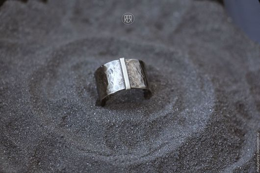 Кольца ручной работы. Ярмарка Мастеров - ручная работа. Купить кольца с чеканной фактурой. Handmade. Серебряный, кольца, украшения унисекс