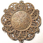 Винтаж handmade. Livemaster - original item Rare Collectible Plate decor in the Gothic Style as Kasli Cast iron. Handmade.
