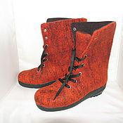 Обувь ручной работы. Ярмарка Мастеров - ручная работа Ботинки Оранж. Handmade.