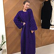 Одежда handmade. Livemaster - original item Women`s dark purple cardigan. Handmade.