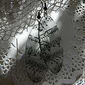 Украшения ручной работы. Ярмарка Мастеров - ручная работа Мелодия души серьги прозрачные. Handmade.