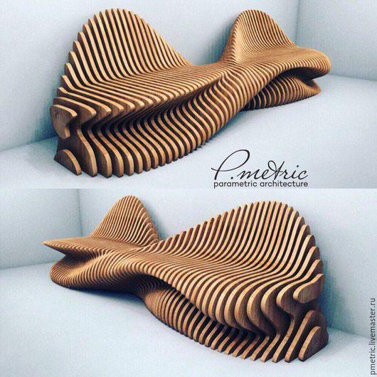Мебель ручной работы. Ярмарка Мастеров - ручная работа. Купить параметрическая скамья. Handmade. Комбинированный, диван, лавочка, parametric, фанера