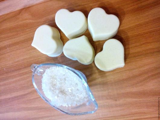 Скраб ручной работы. Ярмарка Мастеров - ручная работа. Купить Соляное мыло с нуля. Handmade. Мыло с нуля, морская соль
