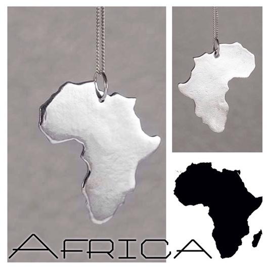 Кулоны, подвески ручной работы. Ярмарка Мастеров - ручная работа. Купить Серебряный кулон AFRICA. Handmade. Африка, серебряный кулон