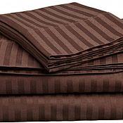 handmade. Livemaster - original item Bed linen from stripe-satin-hotel line !. Handmade.
