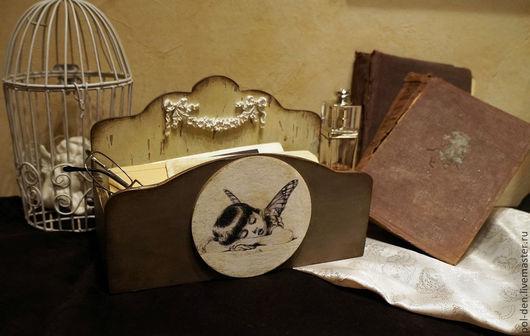 Корзины, коробы ручной работы. Ярмарка Мастеров - ручная работа. Купить Ящик для важных бумаг или писем. Handmade. Коричневый