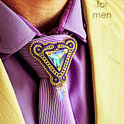 Украшения handmade. Livemaster - original item Men`s Vladimir brooch Purple Golden Pearl. Handmade.