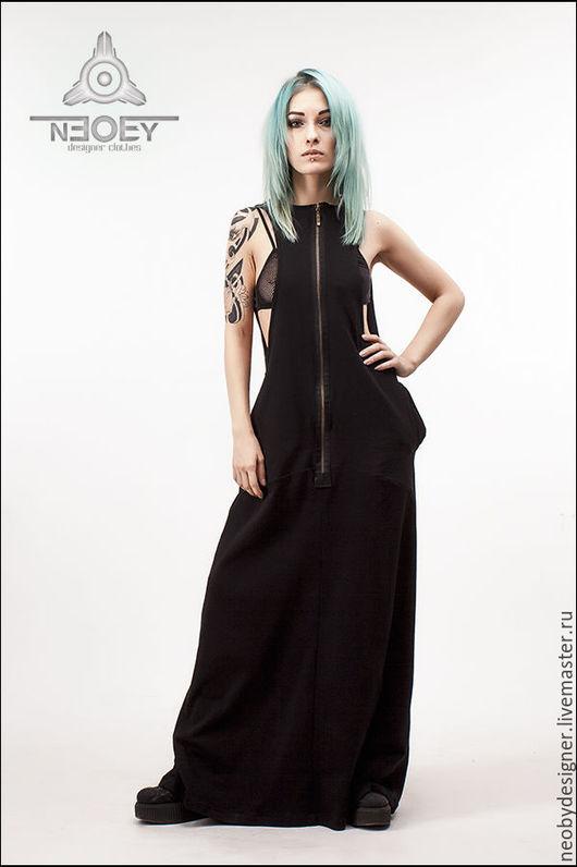 Платья ручной работы. Ярмарка Мастеров - ручная работа. Купить Платье сарафан Sarapa от NEOBY - SR 06. Handmade. Черный