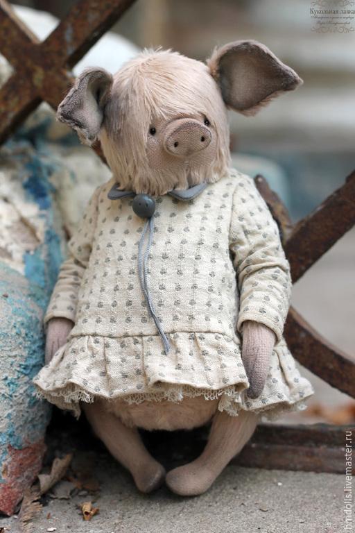 Мишки Тедди ручной работы. Ярмарка Мастеров - ручная работа. Купить Жоржетта. Handmade. Бледно-розовый, хрюшка, вера кондратьева