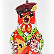 """Колокольчики ручной работы. Ярмарка Мастеров - ручная работа Керамический колокольчик """"Петушок"""". Handmade."""