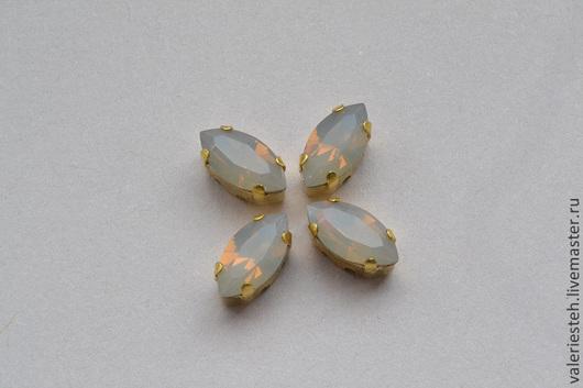 Для украшений ручной работы. Ярмарка Мастеров - ручная работа. Купить Кристаллы Swarovski 10х5мм. цвет Light Grey Opal. Handmade.