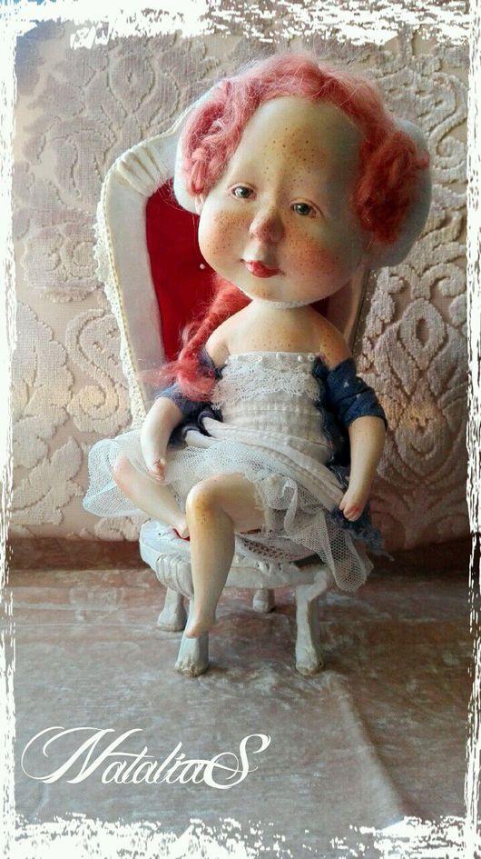 Коллекционные куклы ручной работы. Ярмарка Мастеров - ручная работа. Купить КоролевиШна. Handmade. Гапчинская, Рыжая, полимерная глина