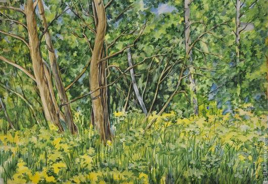 Пейзаж ручной работы. Ярмарка Мастеров - ручная работа. Купить Летняя полянка. Handmade. Разноцветный, солнечный, солнечное настроение, поляна