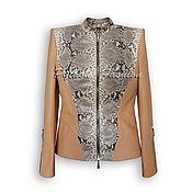 Одежда handmade. Livemaster - original item Jacket from Python MIARES. Handmade.