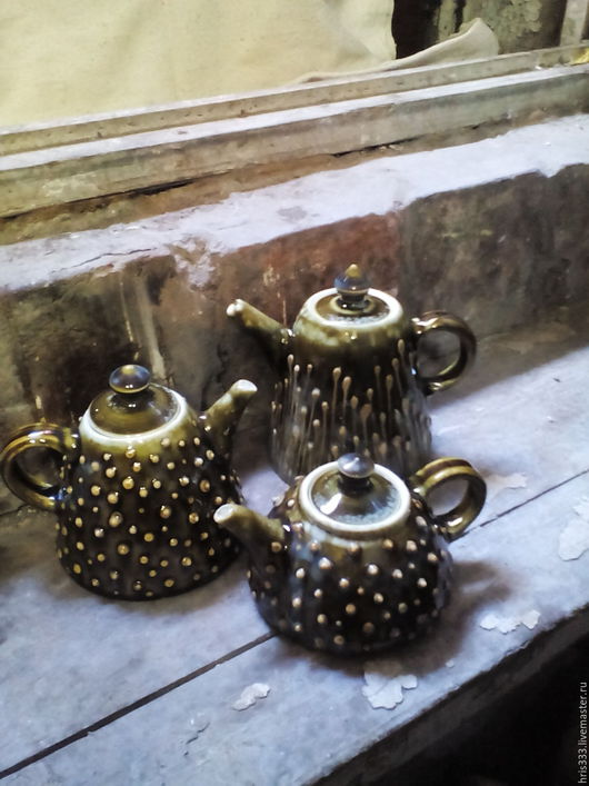 """Чайники, кофейники ручной работы. Ярмарка Мастеров - ручная работа. Купить Чайник  фаянсовой """"Лесной"""". Handmade. Гончарная керамика"""