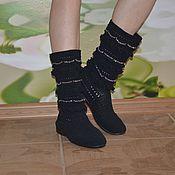 """Обувь ручной работы. Ярмарка Мастеров - ручная работа сапожки летние вязаные""""Зара"""". Handmade."""