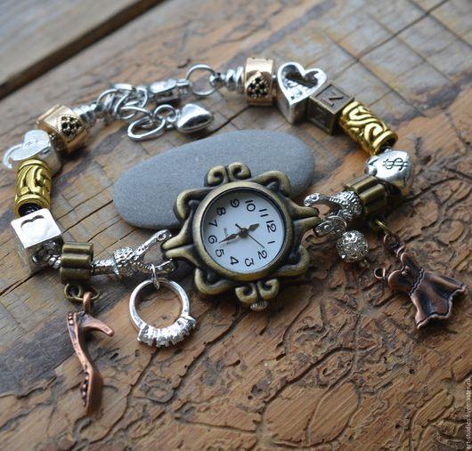 """Часы ручной работы. Ярмарка Мастеров - ручная работа. Купить Часы """"Для модниц"""" с браслетом в европейском стиле.. Handmade. Подарок"""