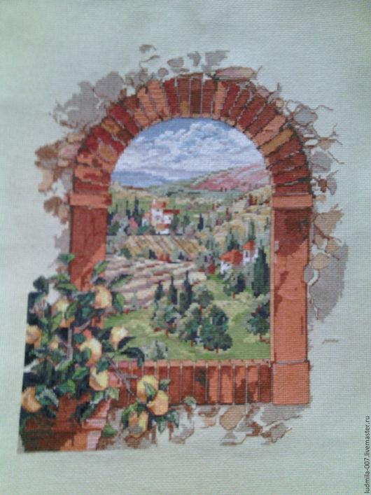 Пейзаж ручной работы. Ярмарка Мастеров - ручная работа. Купить Dreaming of Tuscany. Handmade. Комбинированный, вид из окна