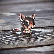 Украшения handmade. Livemaster - original item Wooden icon Cute animal. Handmade.