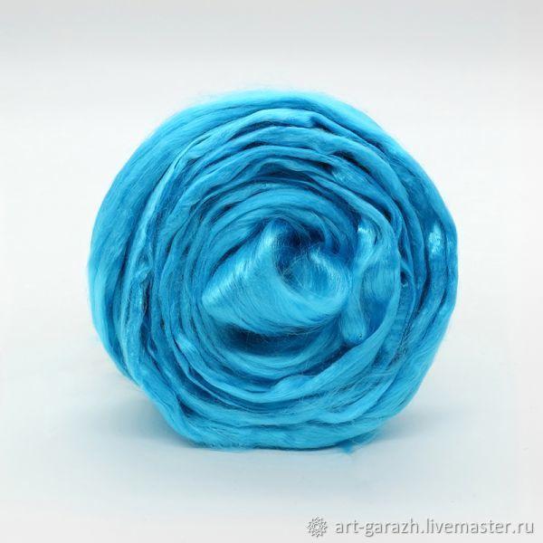 Волокна вискоза (Троицк) - голубая бирюза 0474, Волокна, Москва,  Фото №1
