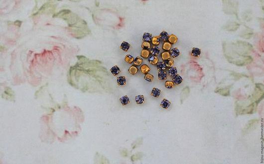 Для украшений ручной работы. Ярмарка Мастеров - ручная работа. Купить Винтажные кристаллы Swarovski 4 мм. цвет среневый. Handmade.