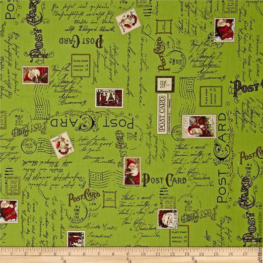 """Шитье ручной работы. Ярмарка Мастеров - ручная работа. Купить СКИДКА. Новогодняя ткань. (7 видов) """"Новогодняя Почта"""". Хлопок США.. Handmade."""