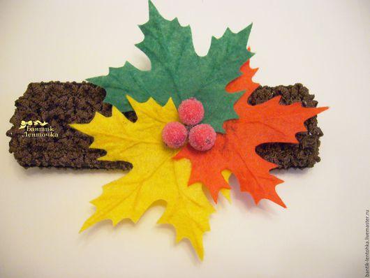"""Повязки ручной работы. Ярмарка Мастеров - ручная работа. Купить Повязка для волос """"Осень"""". Handmade. Кленовый лист, повязка на волосы"""