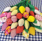 Цветы и флористика ручной работы. Ярмарка Мастеров - ручная работа Тюльпаны из ткани. Handmade.