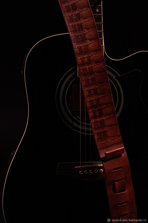 """Чехлы для инструментов ручной работы. Ярмарка Мастеров - ручная работа. Купить Гитарный ремень """"А пули..."""". Handmade."""